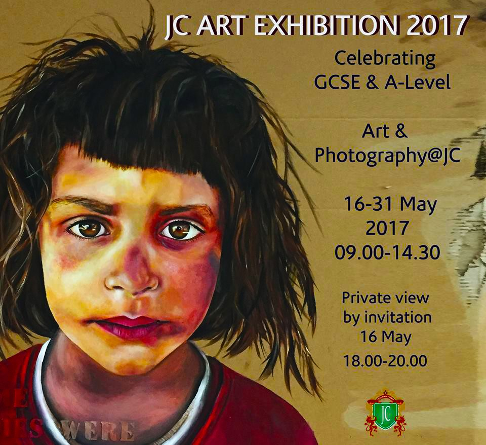 Bild zeigt ein Plakat für die Kunst- und Fotoausstellung 2017 des Jumeirah College