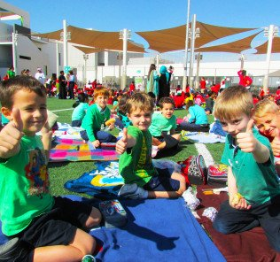 Outside learning at GEMS Metropole School in Dubai