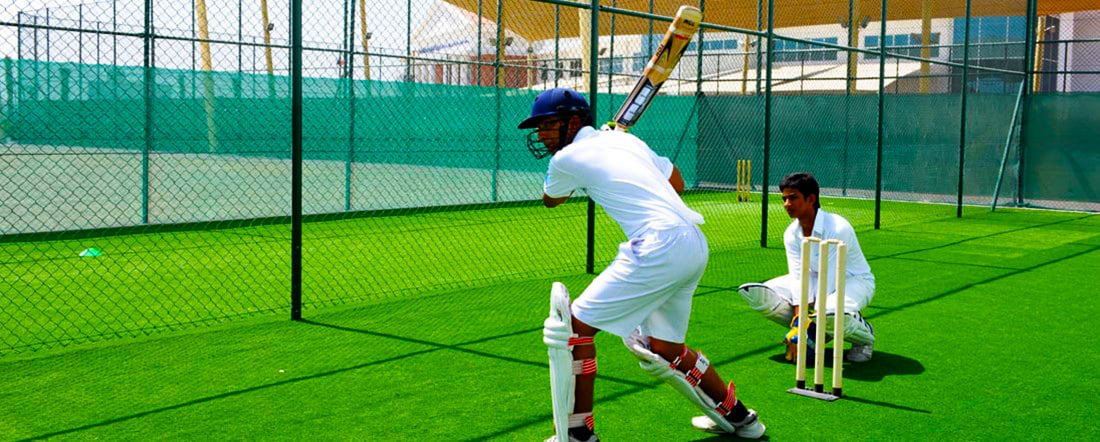 Children playing cricket at GEMS Modern School in Dubai