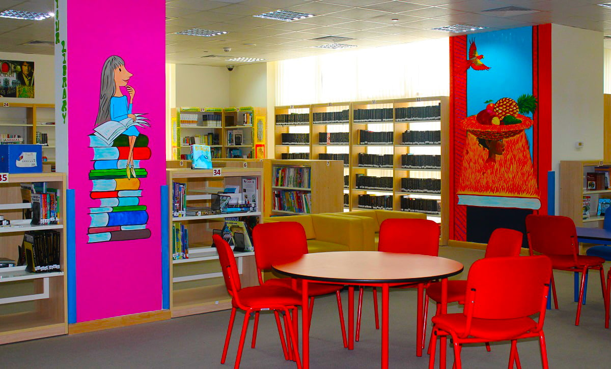 Image of the KG library at Springdales School in Dubai