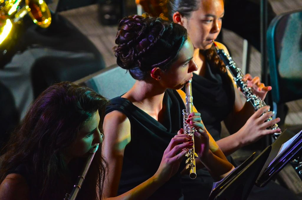 Image of girls playing in the American Community School of Abu Dhabi orchestra