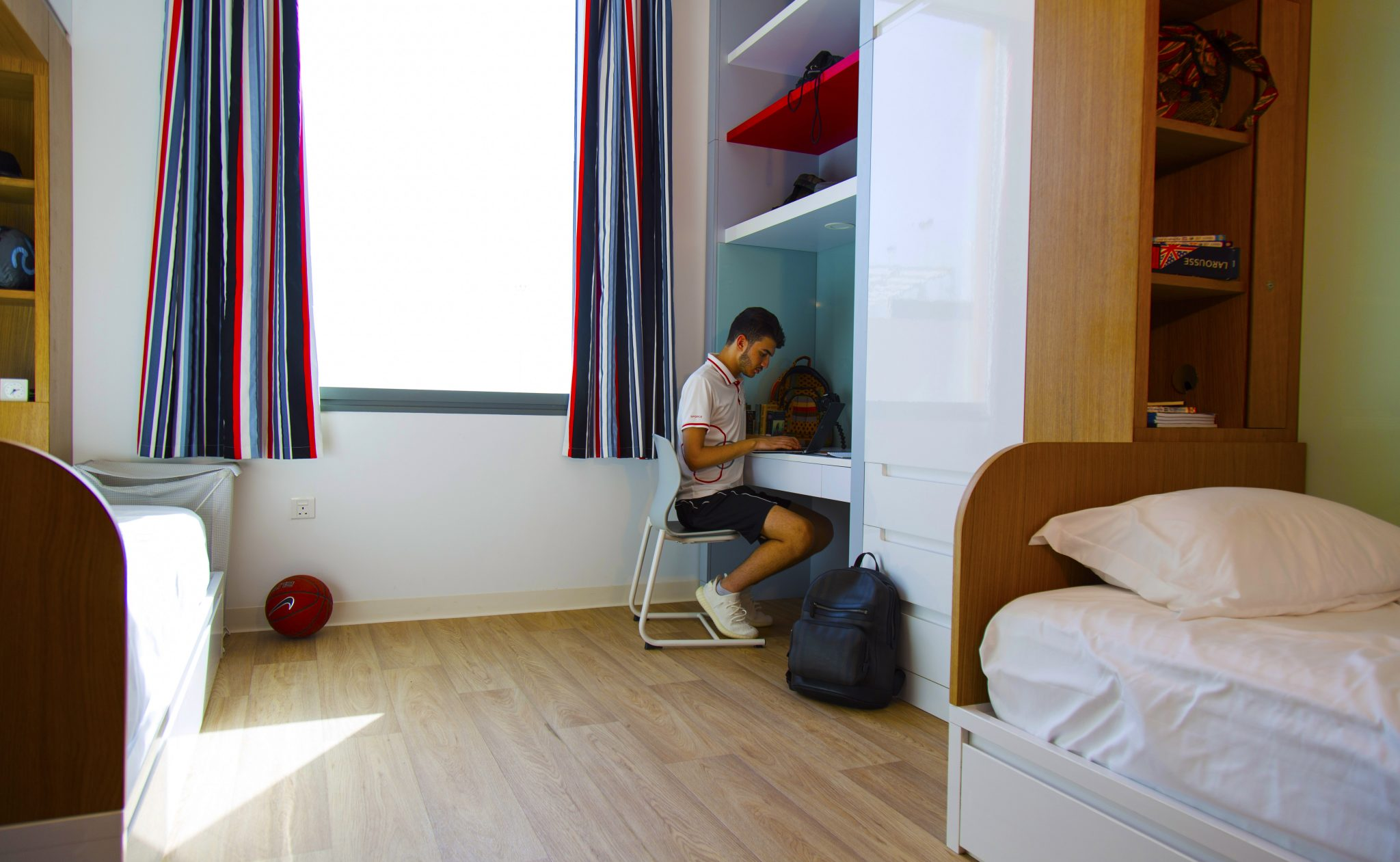A boys boarding house bedroom at the SSwiss Scientific International School in Dubai 2018