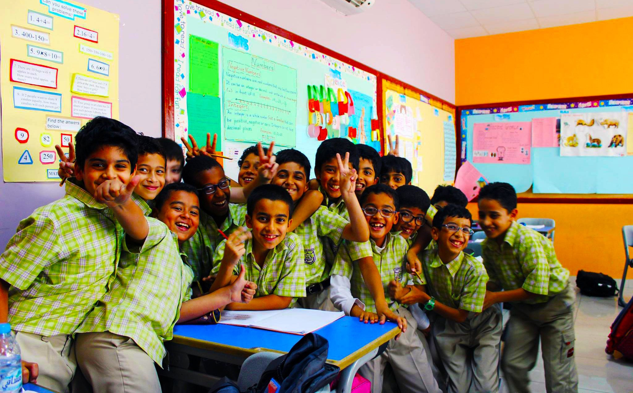 Photograph of happy children at The Oxford School Dubai