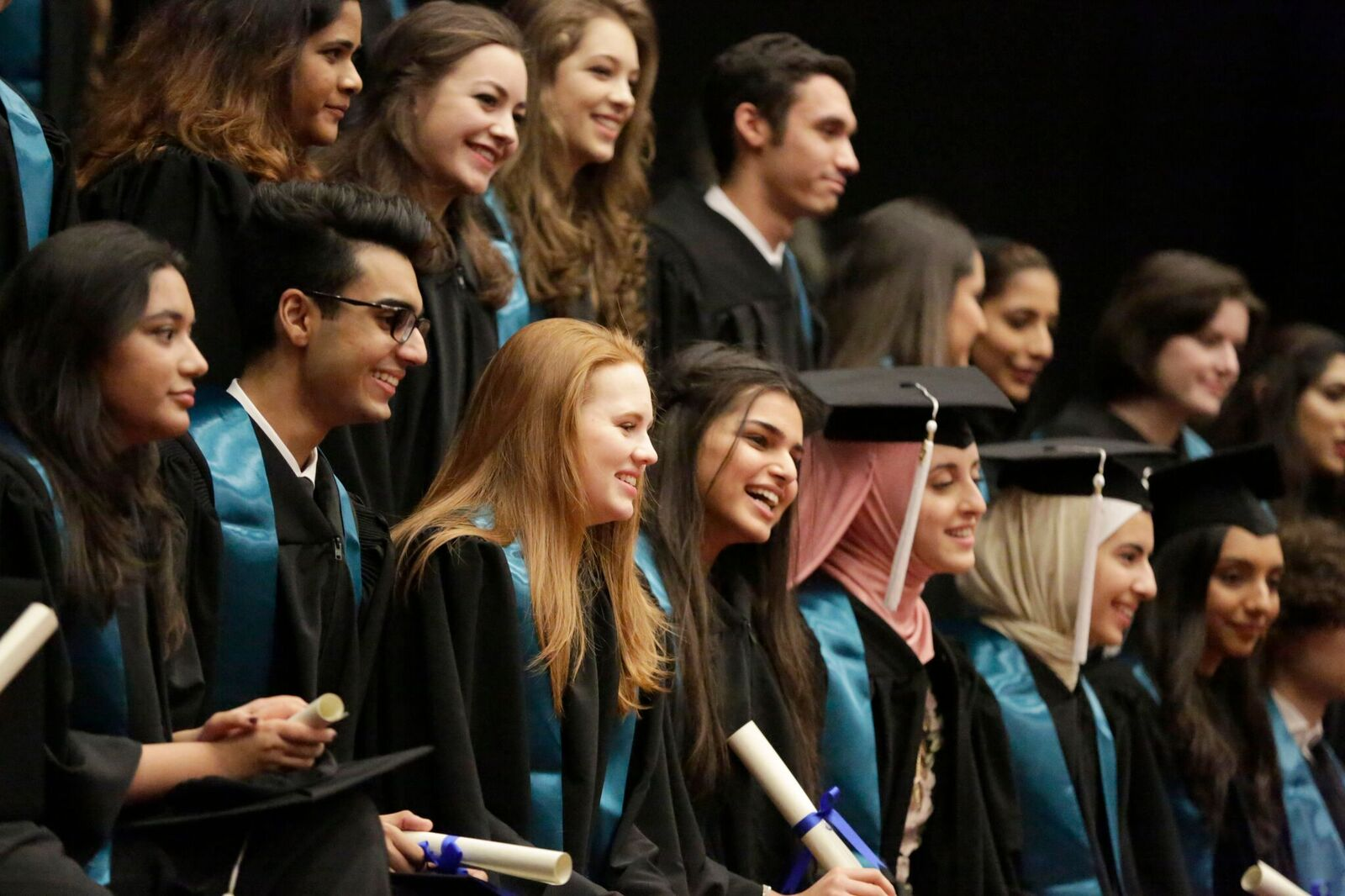 Photo of graduating IB students from Nord Anglia's British School Abu Dhabi