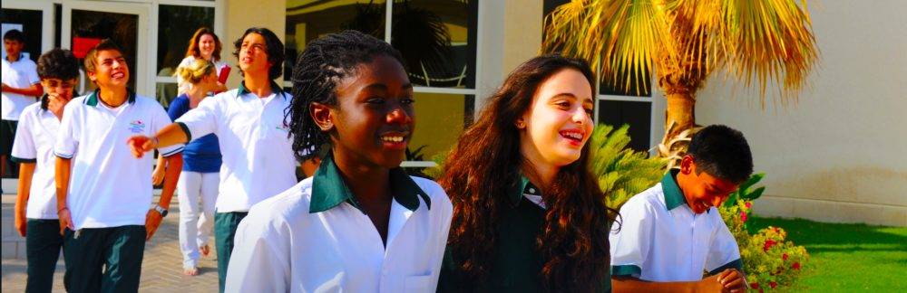 An image showing happy children at the resolutelyu not for profit Deira International School in Dubai