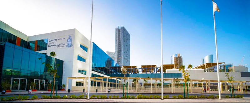 Repton School Abu Dhabi Fry Campus buildings