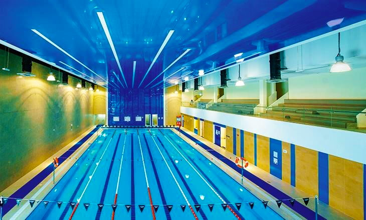 Swimming facilities at Repton School Abu Dhabi Fry Campus