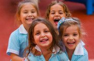 Image showing laughing, happy younger children in uniform at the British International School Abu Dhabi