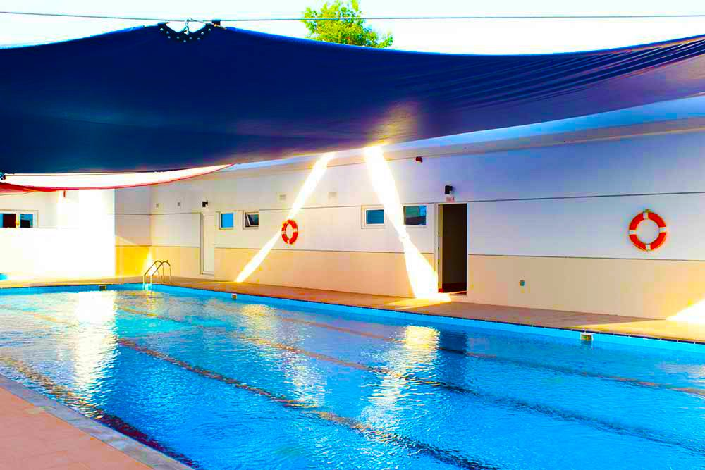 Photograph of the Swimming Pool at Smart Vision School in Dubai