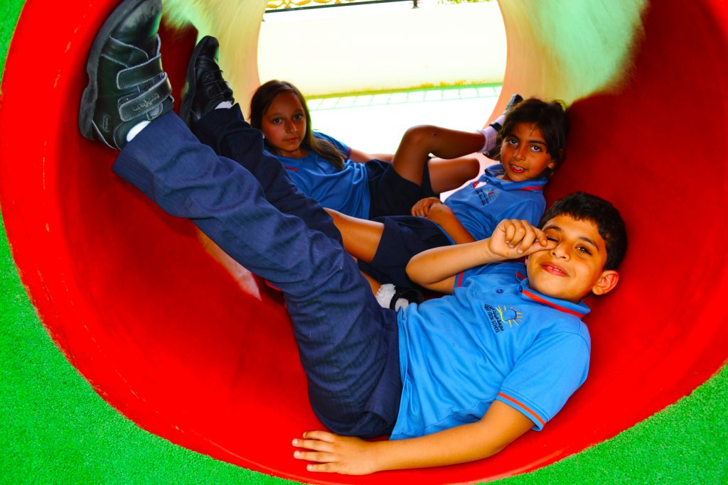 Photograph of children playing at Smart Vision School in Dubai
