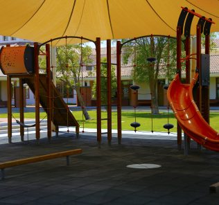 Photograph of one external play area at The Sheikh Zayed Private Academy for Girls
