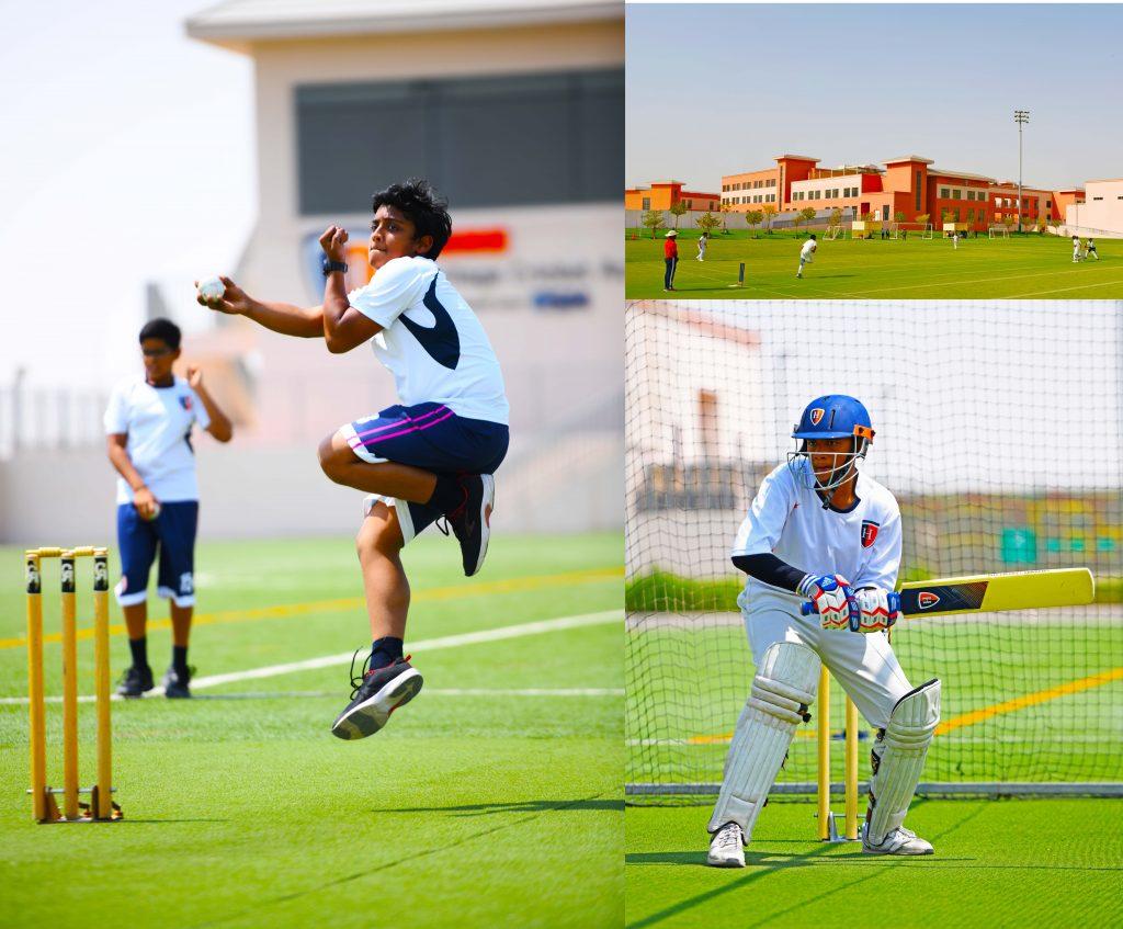 مونتاج من الصور التي توضح اتساع نطاق التسهيلات والإنجازات التي تميز تقديم مدرسة جيمس الهندية التراثية في دبي