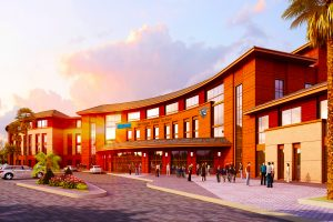 Architectural render of GEMS Heritage Indian School in Dubai, a CBSE curriculum school located in Dubailand