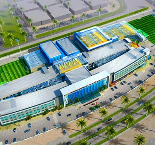 Architect's render of the new GEMS Vertus School set top open in Dubai in September 2018