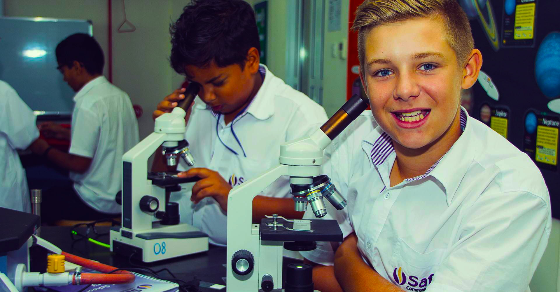 Photograph showcasing the scientific labs provision at Safa Community School Dubai