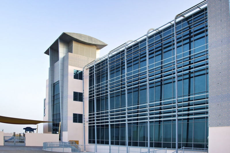 Buildings and frontage of the Global Indian International School Dubai