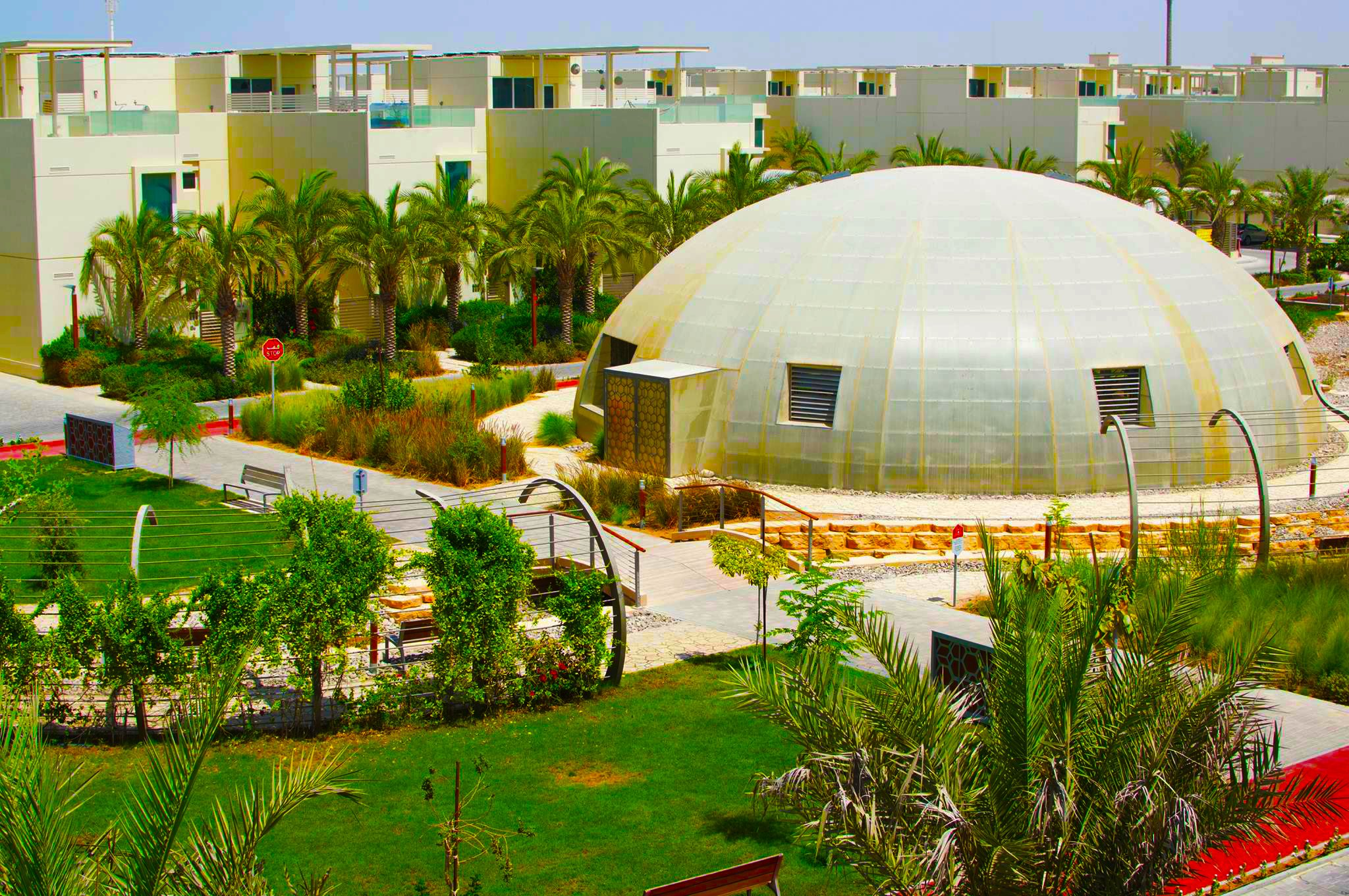 Photograph of the Fairgreen International School biodome in Dubai