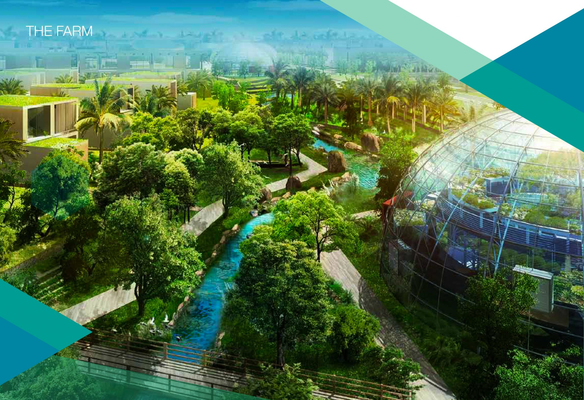 The Farm, including its Biodome, within Sustainable City that is easily accessible to children at the Fairgreen School Dubai