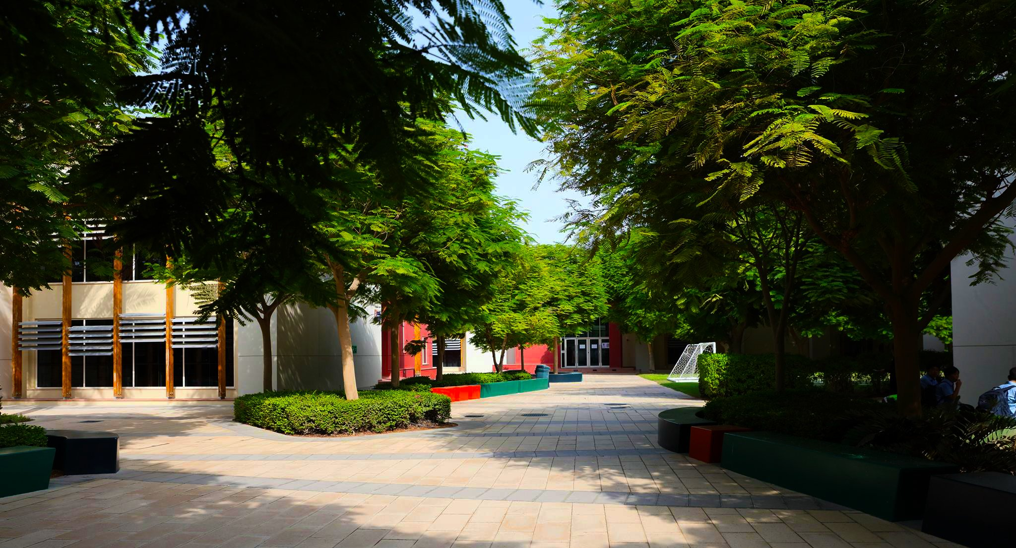 One of the courtyards at Bradenton Preparatory Academy in Dubai Sports City
