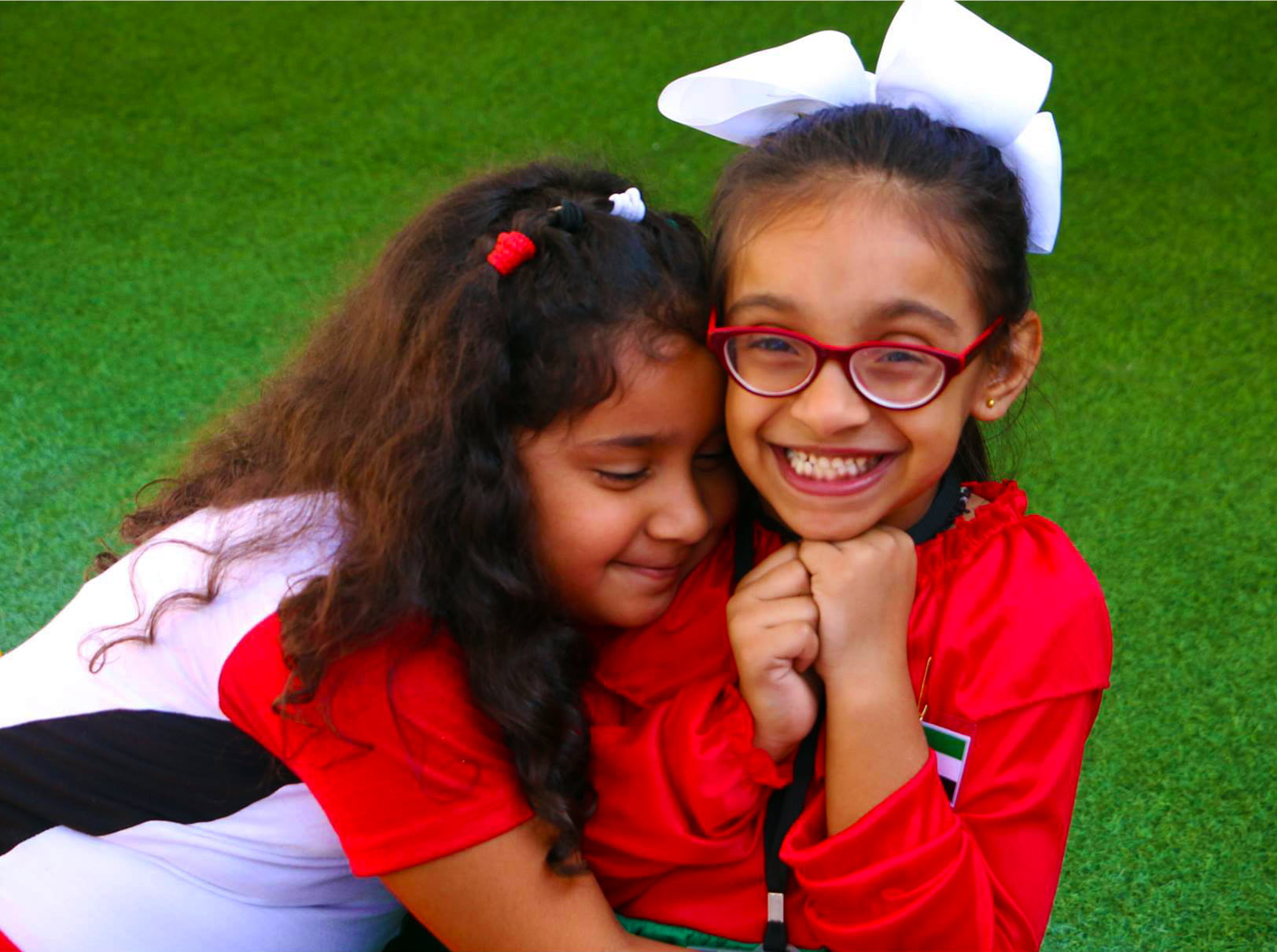 Happy children at the Ambassador Kindergarten and Nursery in Dubai