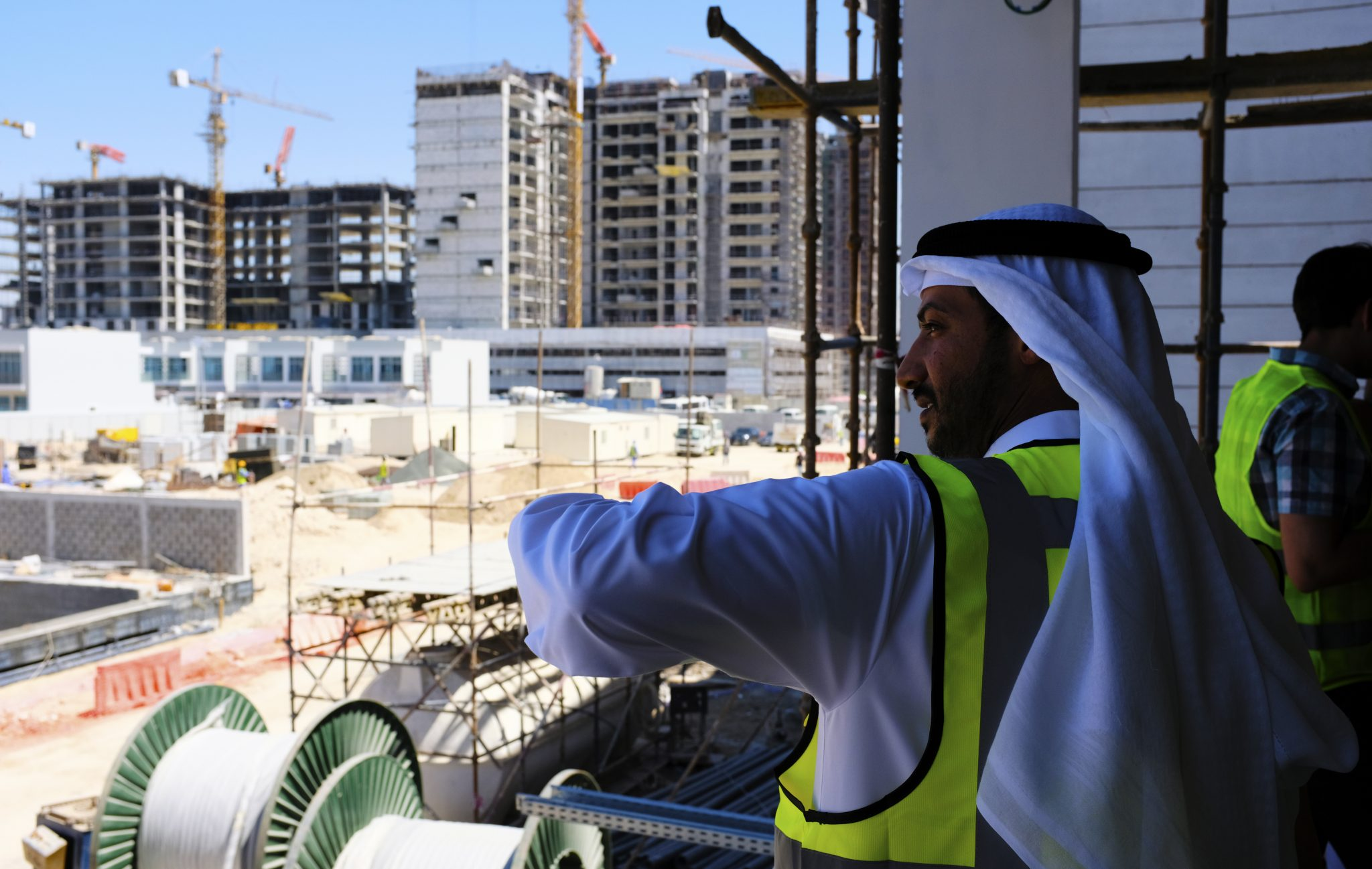 Photograph of construction in progress as of Marh 2018 at The Arbor School in Dubai