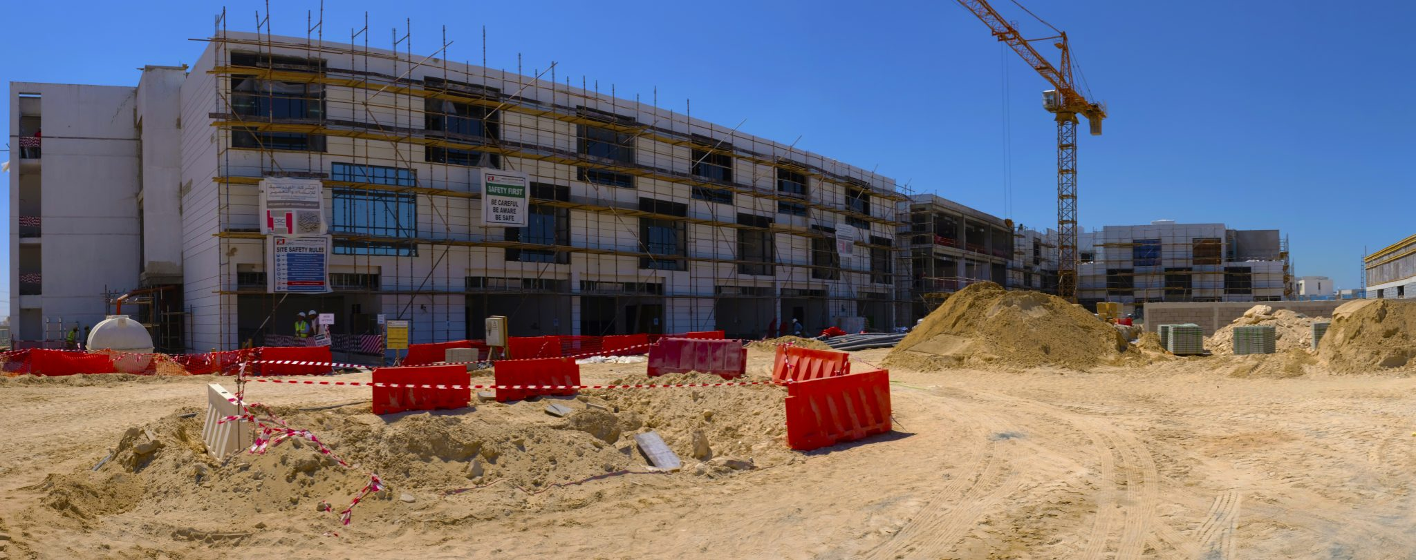 Photograph of the construction underway at The Arbor school in Dubai as of March 2018