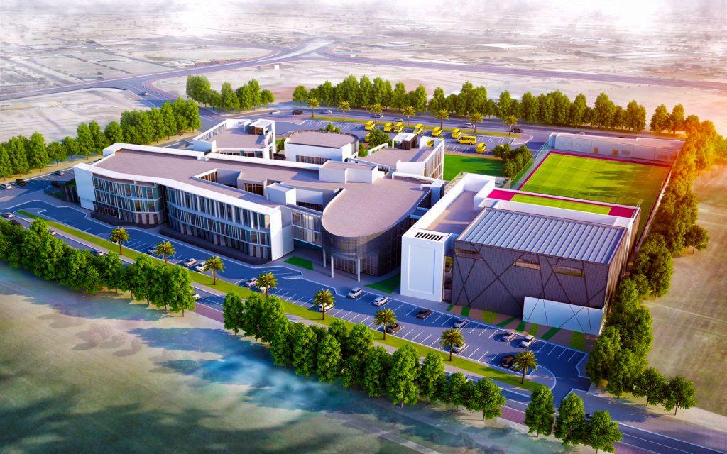 Bild der Aquila School Dubai mit neuen Designmerkmalen, die für den Start im Jahr 2018 integriert wurden
