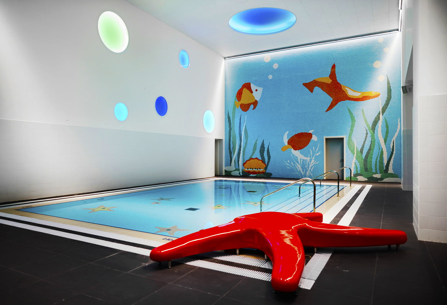 Photograph of swimming facilities for children at The Sheikh Zayed Private Academy for Boys in Abu Dhabi