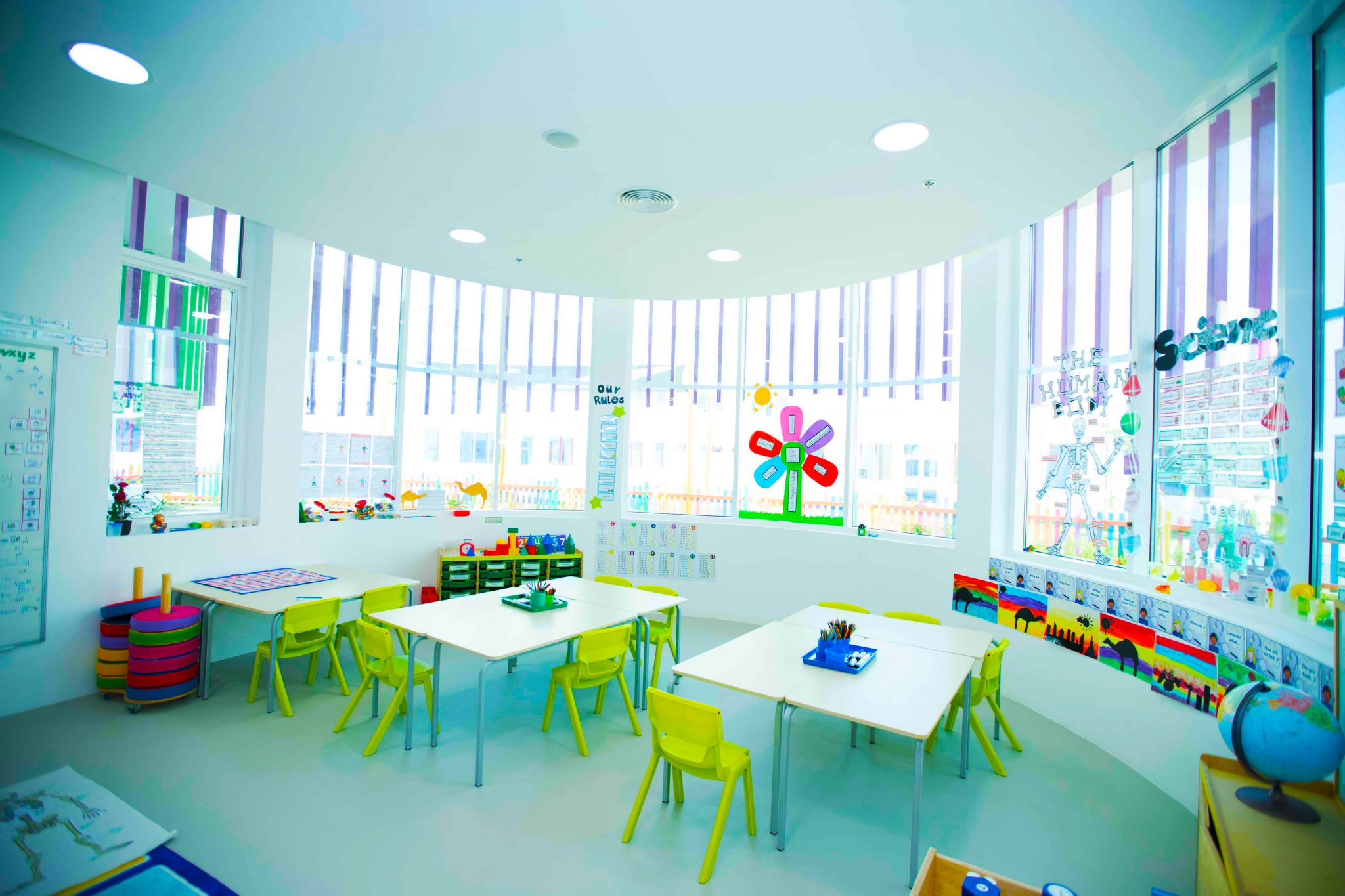 Photograph of a classroom at Dubai Heights Academy in Dubai