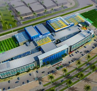 Rendered photograph of the new GEMS School of Digital Futures opening in Dubai in September 2018