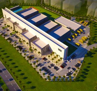 Photographic render of the new Ignite School opening in Dubai in 2018