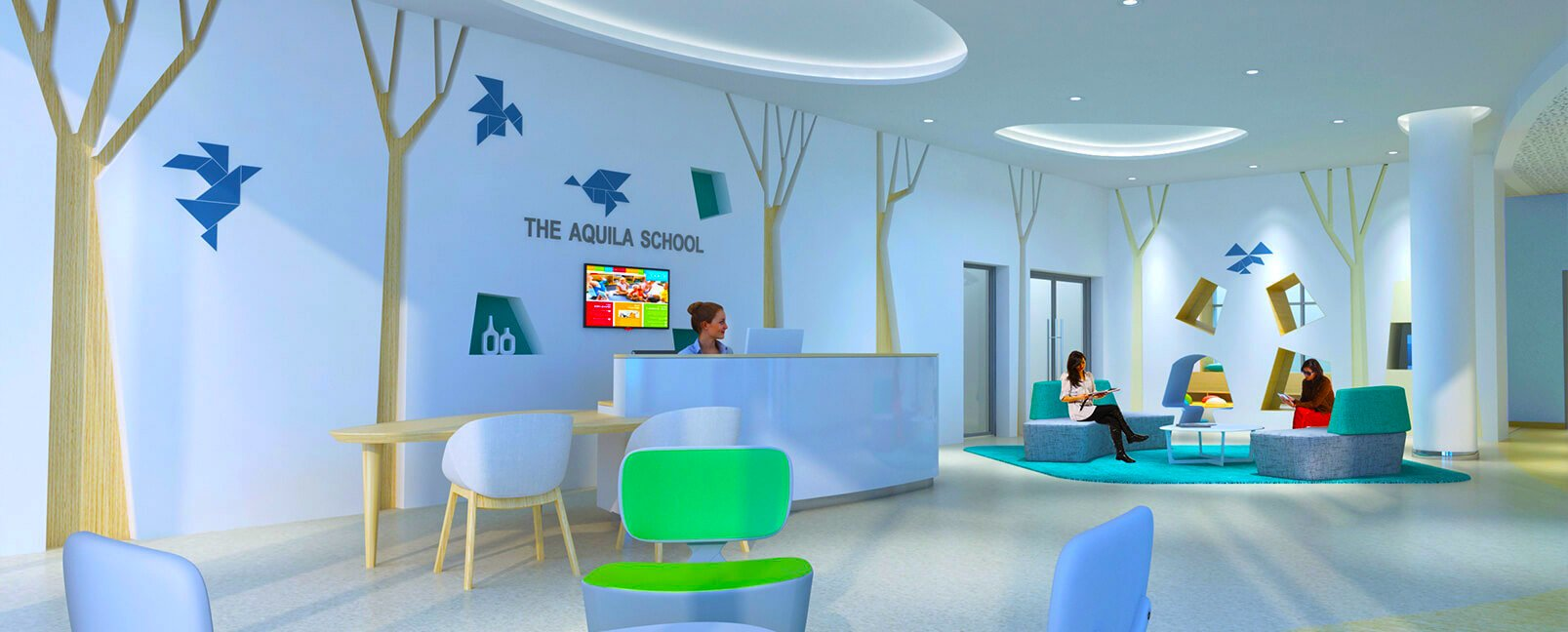 Image showing the Main Reception area of the Aquila School Dubai opening in September 2018