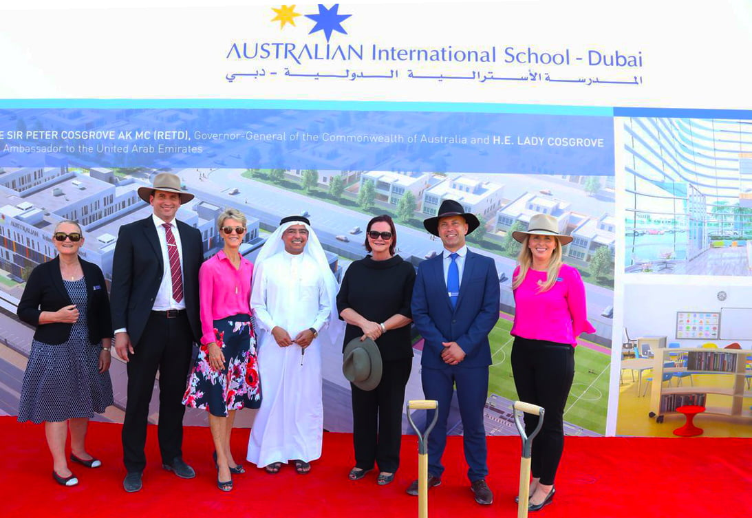 Photo from the launcvh of the Australian International School in Al Barsha Dubai