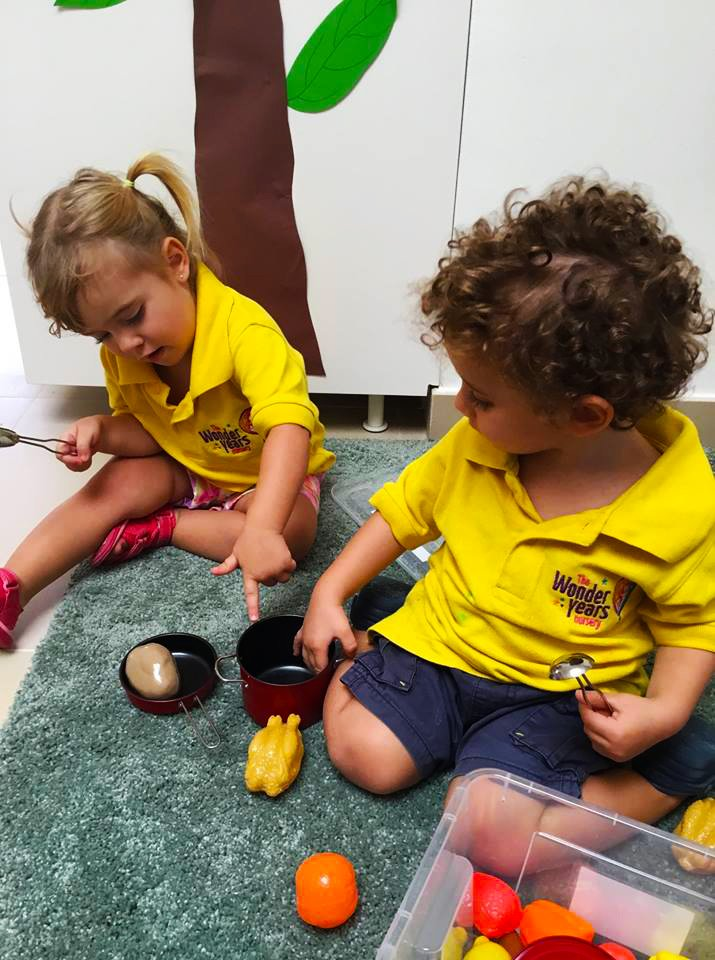 Children learning at the Wonder Years Nursery Dubai
