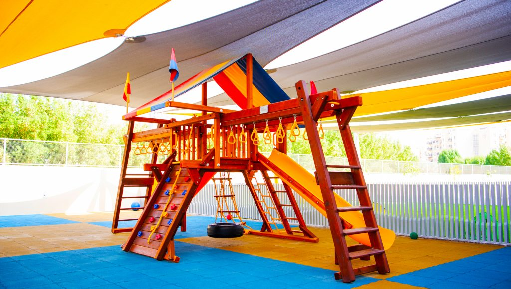 Dedicated FS Play Area at South View school in Dubai designed to develop motoring skills
