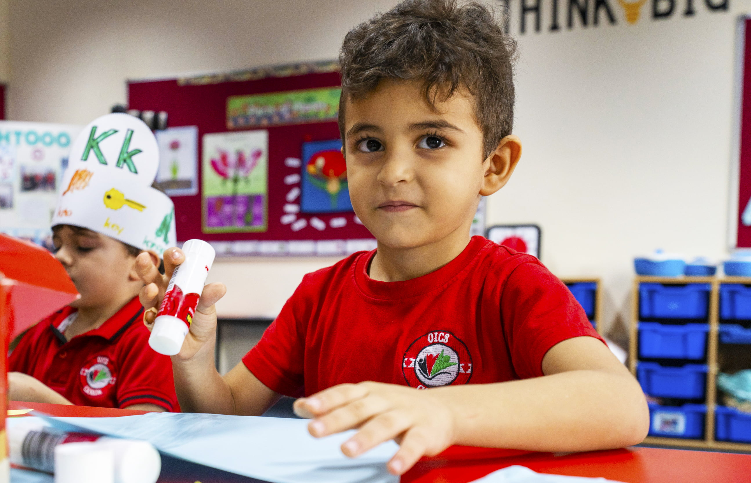 Photograph of a child engaged in 3 dimensional stem activities at the Ontario International Canadian School in Dubai