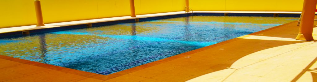 Photograph of one of the swimming pools at The English College in Dubai
