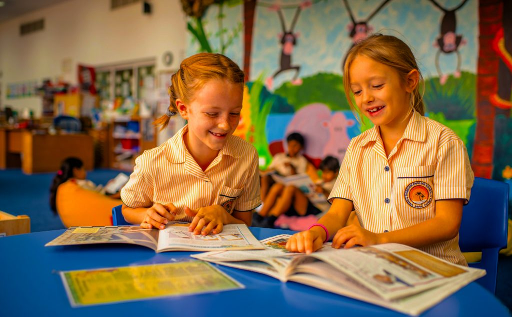 Primary children at Horizon English School in Dubai learning in class