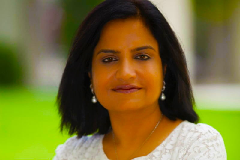 Photograph of Poonam Bhojani, CEO of Innventures Education and Founder of Dubai International Academy Emirates Hills - the first all-through IB school in Dubai