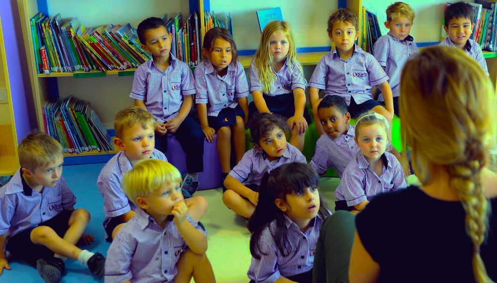 Photograph of Early Years children at Safa Community School in Dubai