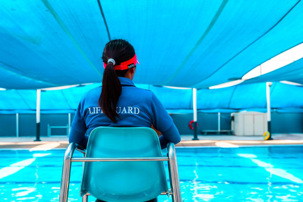 Photograph of the Swimming Pool instructor at Capital School in Dubai.