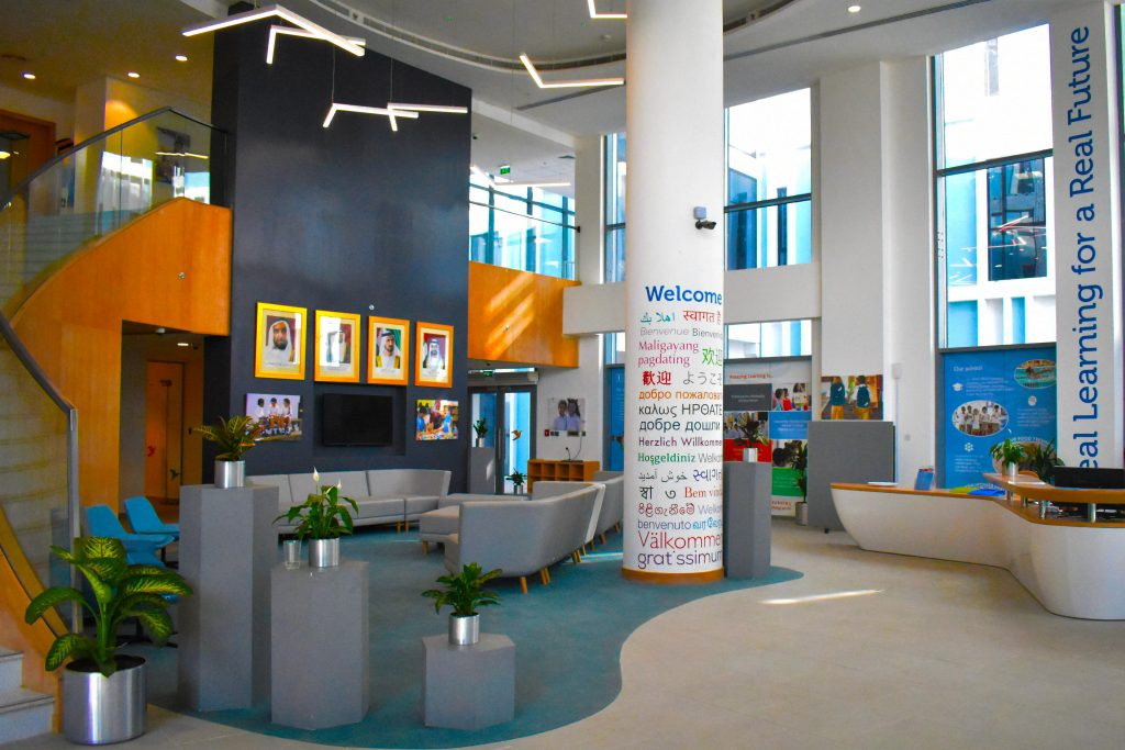 Photograph of the main School Reception area of The Aquila School in Dubai