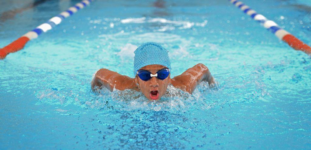 Photograph of child swiming at GEMS New Millennium School in Dubai