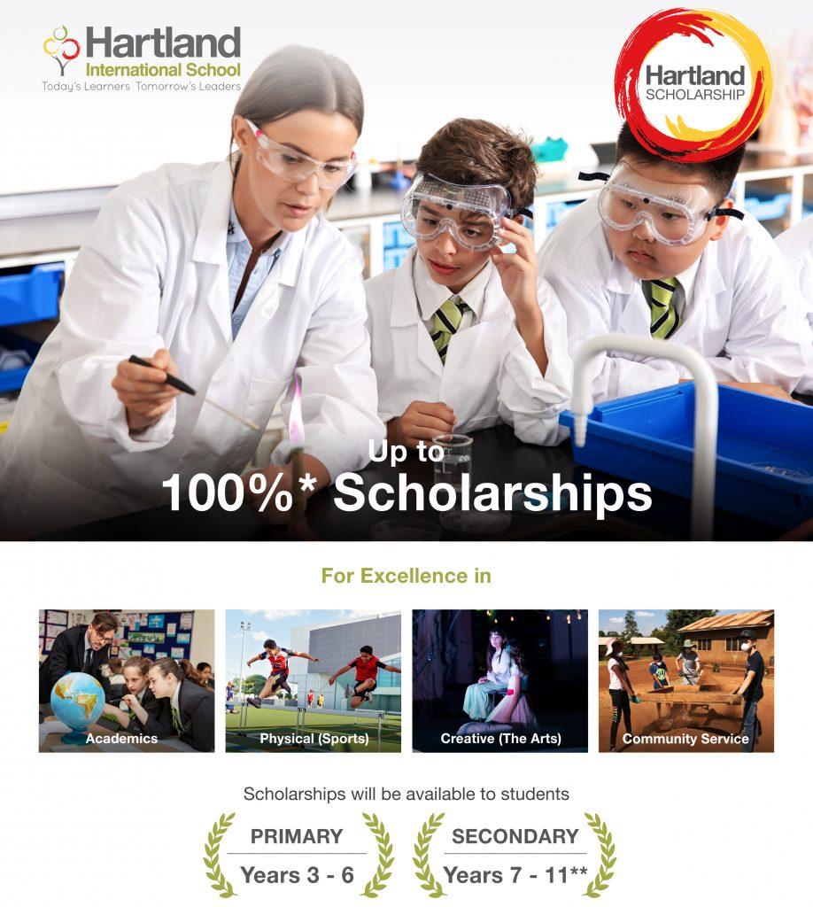 مدرسة هارتلاند الدولية هي واحدة من المدارس القليلة التي تقدم منحًا دراسية للأطفال في الإمارات العربية المتحدة. برنامج هارتلاند سخي مع عرض يصل إلى 100٪ مقابل رسوم وفقًا لاحتياجات وهدايا الطفل.
