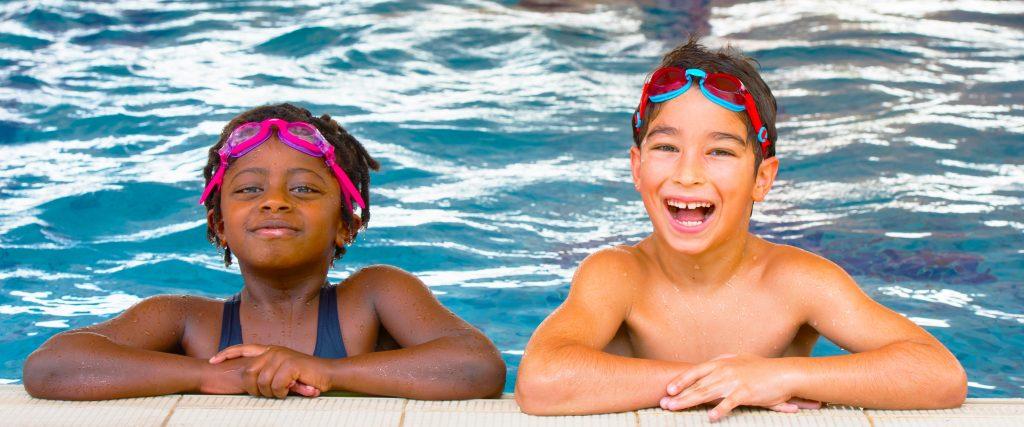 Enhanced sporting facilities at Star International School Mirdif in Dubai. Here children enjoy swimming facilities at the school.