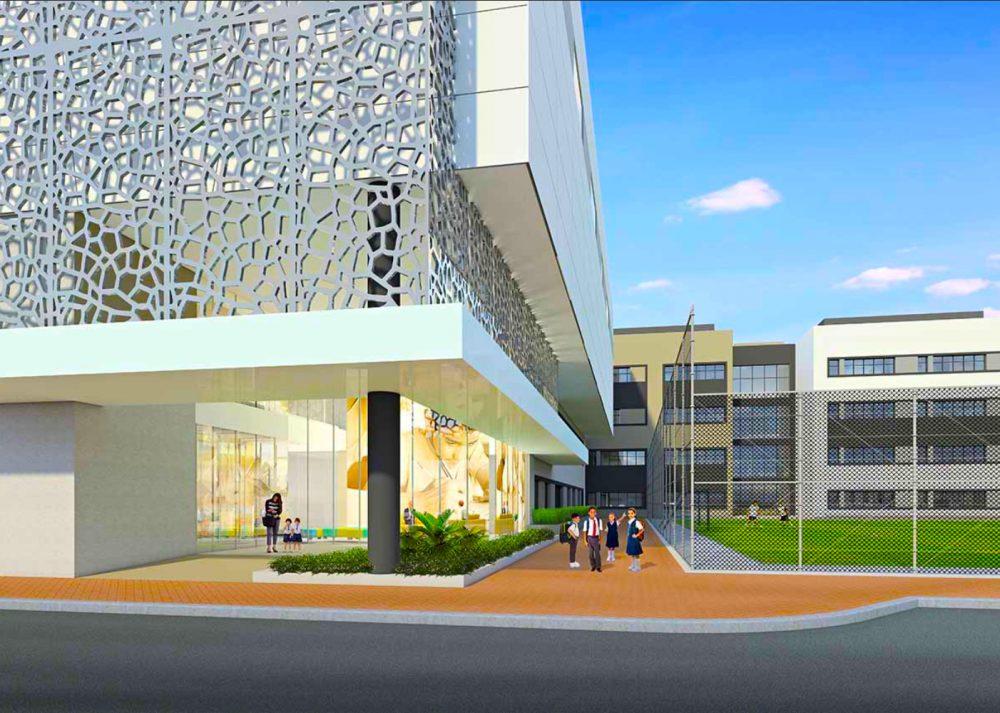 صورة لمدرسة بيرل الحكمة الجديدة في دبي. بيرل الحكمة هي منهج هندي جديد CBSE المدرسة التي تم إطلاقها في البداية إلى السنة 5.