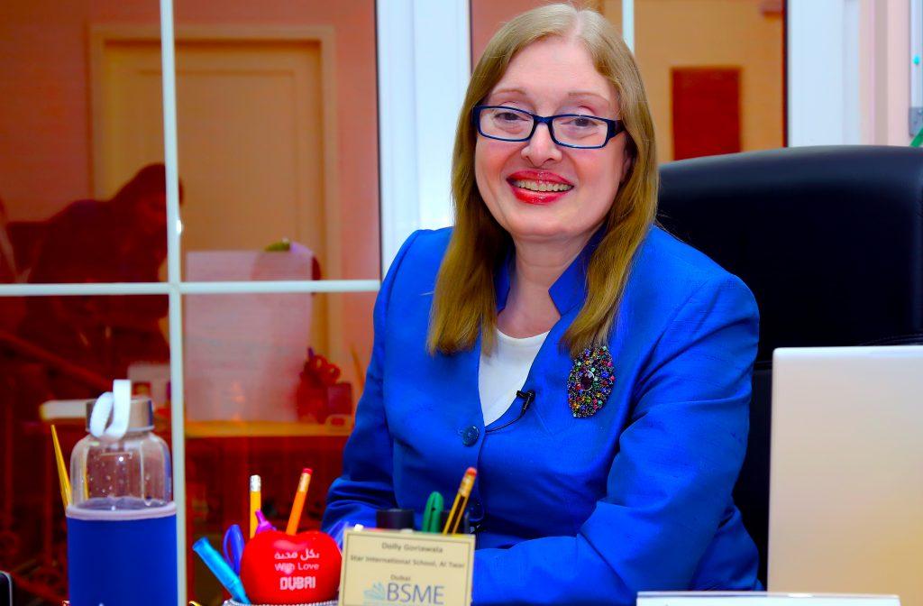 Fotografía de Dolly Goriawala, directora del plan de estudios del Reino Unido Star International School Al Twar en Dubai