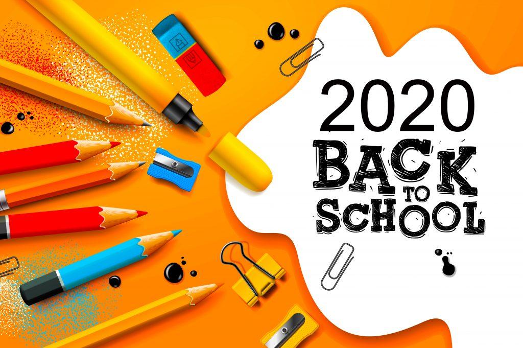 Wiedereröffnung der Schulen im September in Dubai, Abu Dhabi Sharjah, Vereinigte Arabische Emirate. Zurück zur Schule. Wird es passieren? Die Auswirkungen von Covid 19 werfen große Fragen auf.
