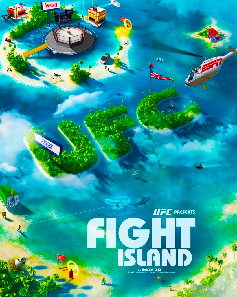 UFC Fight Island Abu Dhabi Exclusive Poster