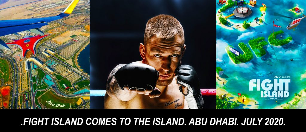 UFC Fight Island comes to Abi Dhabi. Map Directions Poster and Art Work July 2020
